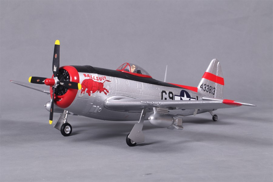 "FMS P-47 V2 ""Balls Out"" 750mm (29.5"") Wingspan - PNP - SNHE"