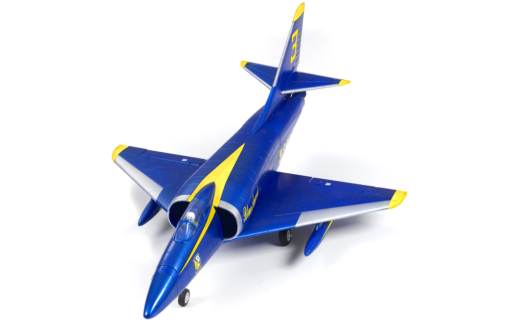 FMS A4 Skyhawk (Blue) 64mm Ducted Fan Fighter Jet Plane Brushless Powered - Plug-N-Play - SNHE