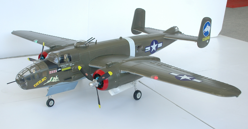 "FMS B-25 Mitchell Bomber Green 1470mm (58"") Wingspan - PNP - SNHE"