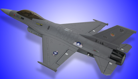 Mini F-16 Fighting Falcon Brushless Ducted Fan Jet PLane Gray - SNHE
