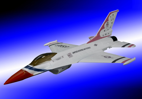 Mini F-16 Fighting Falcon Brushless Ducted Fan Jet PLane White - SNHE