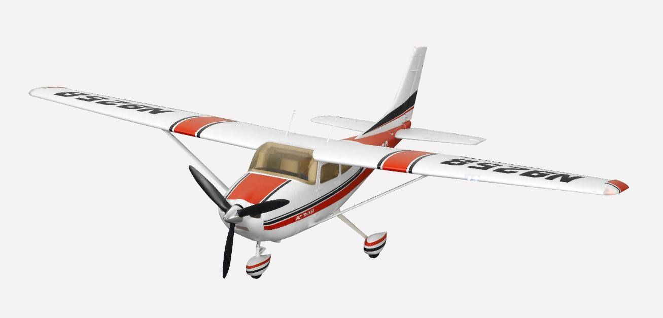 FMS 1400mm Cessna 182 Brushless Powered RC Airplane w/ Flaps & Lights, 2.4 GHz RTF (New Verison) - SNHE