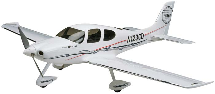 "Great Planes Cirrus SR22 Turbo EP ARF 50.5"" - SNHE"