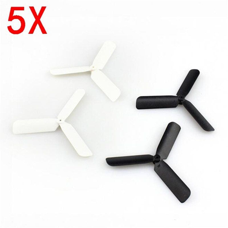 Eachine 3-Blade Propeller Prop 5 sets for 7mm 8.5x20mm Coreless Motor - <b>Black/White</b> - SNHE