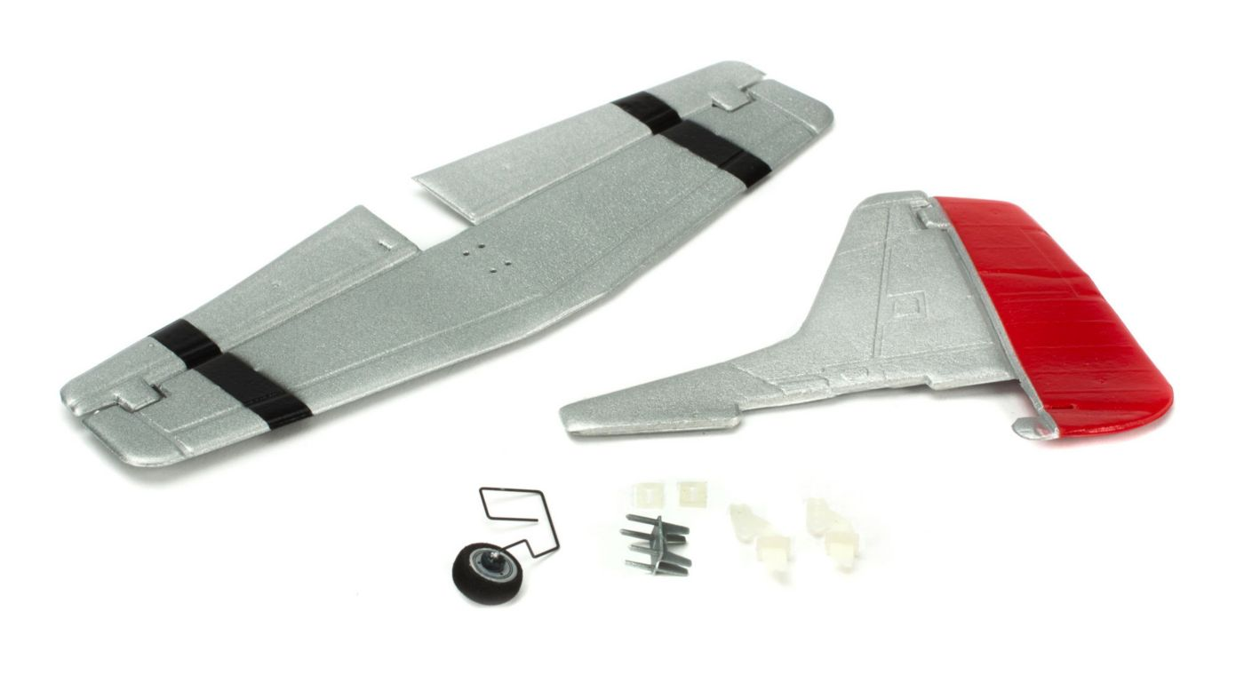 ParkZone Complete Tail w/Accessories: UM P-51D Mustang w/AS3X - SNHE