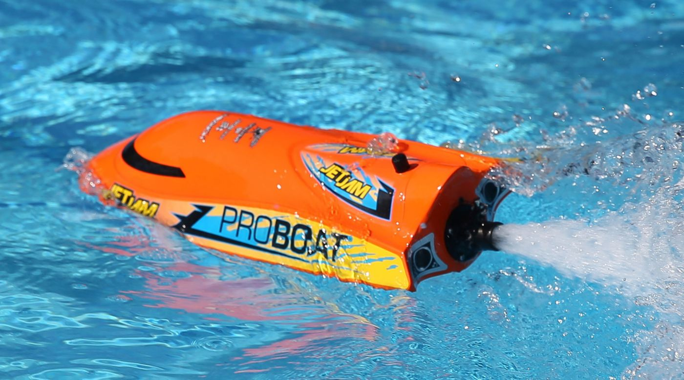 "Proboat Jet Jam 12"" Pool Racer, Orange: RTR - SNHE"