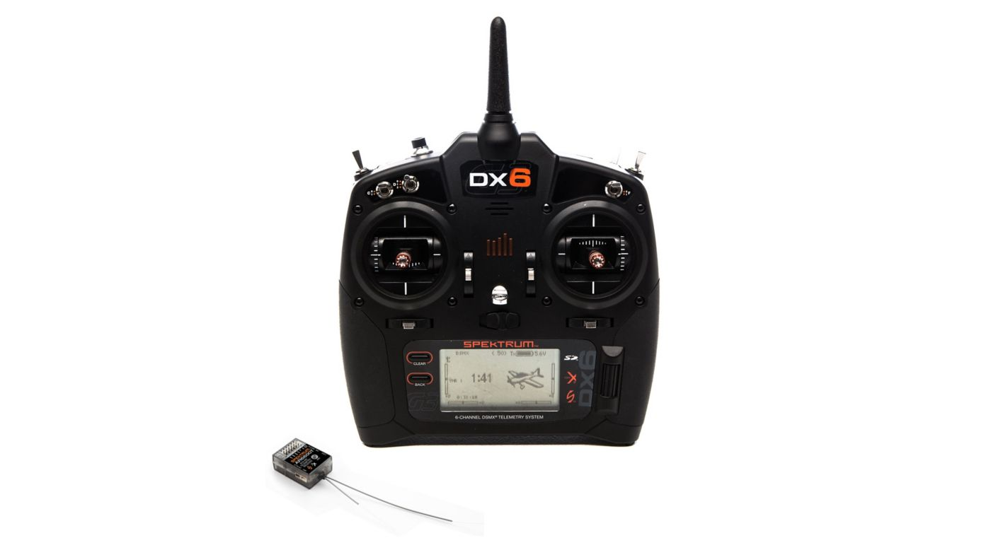 Spektrum DX6 6-Channel DSMX Transmitter Gen 3 with AR6600T Receiver - SNHE