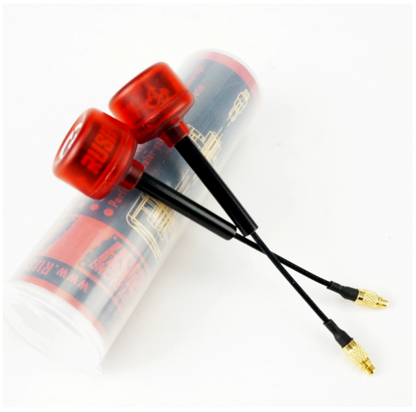 Rush FPV Cherry LHCP Straight MMCX Antenna