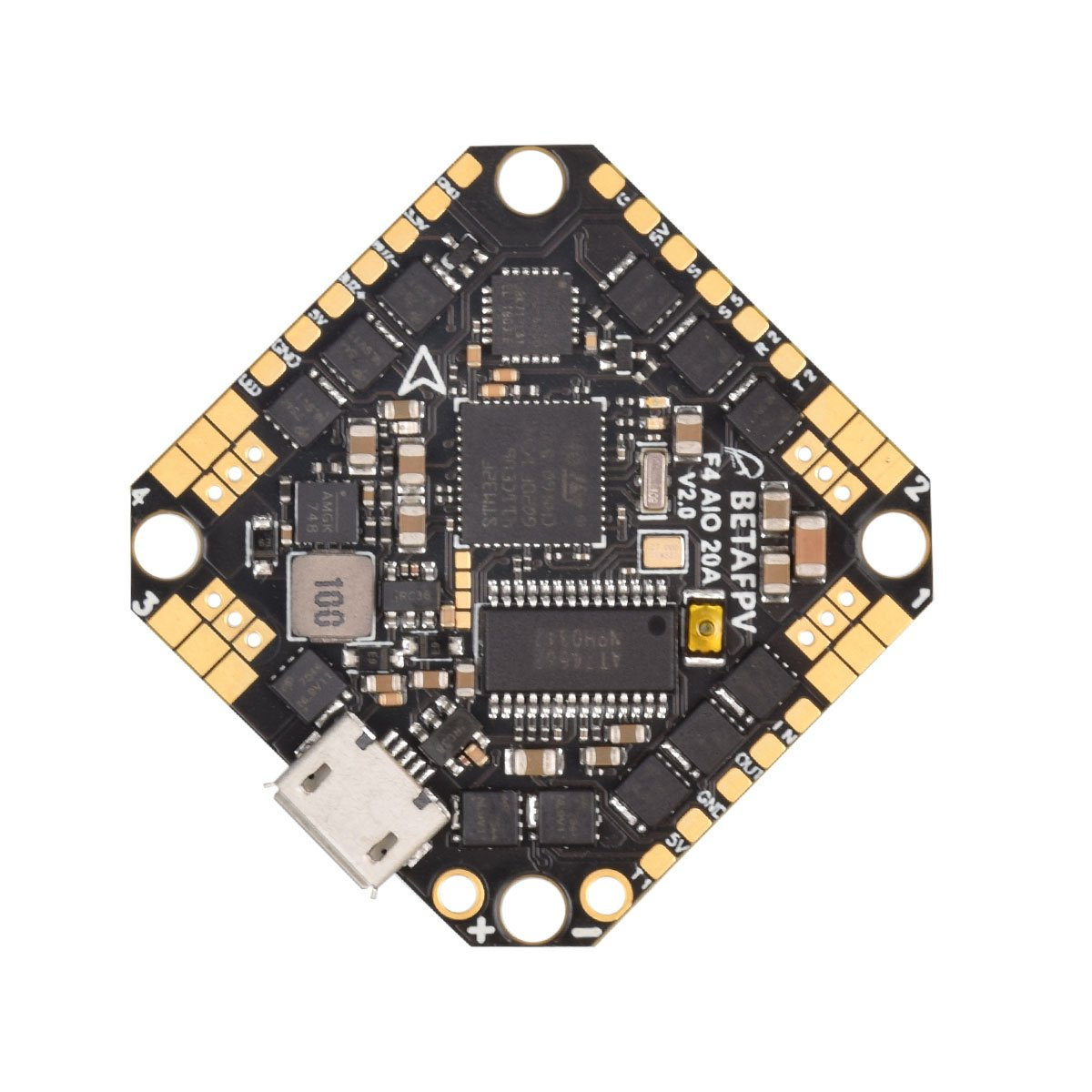 BETAFPV Toothpick F4 2-4S AIO Brushless Flight Controller 20A(BLHeli_S)